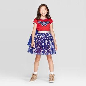 NEW Girls' Wonder Woman Costume Flip Sequin Dress